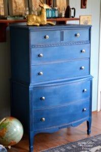 Blue Velvet Dresser – Before and After
