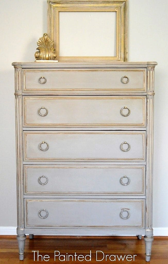 French Linen and Gold Dresser