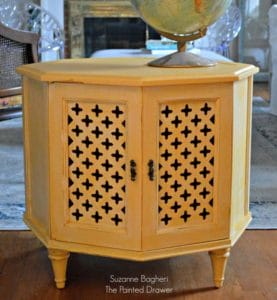 Apricot Moroccan Table Before and After