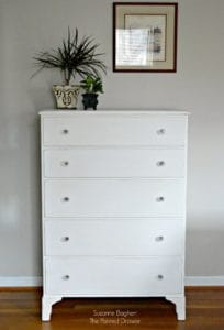 Pure White and Fresh – Dresser Before and After