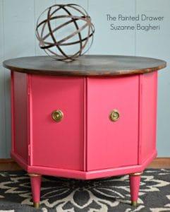 Glamorous Pink Mid-Century Modern Table