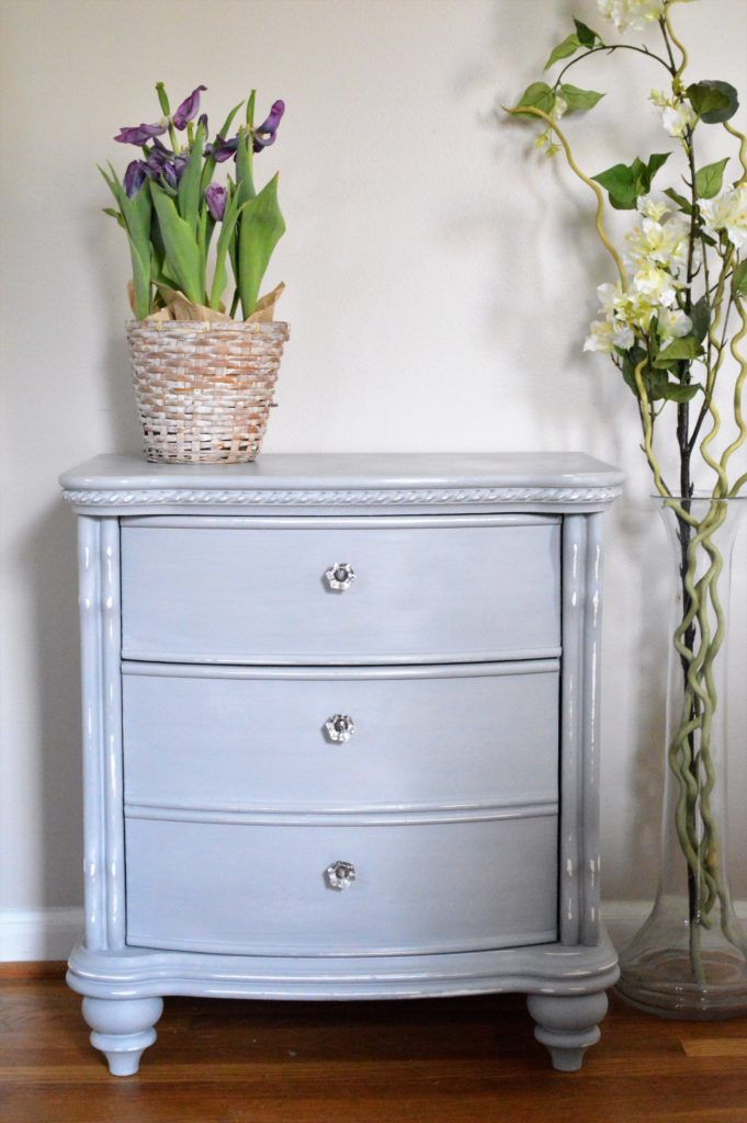 Annie Sloan Paris Grey Nightstand
