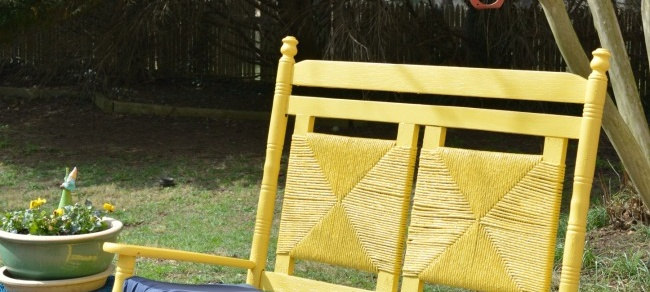 Victorian Yellow Bench