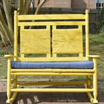 Victorian Yellow Bench