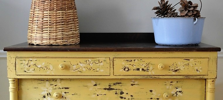Farmhouse Yellow Dresser
