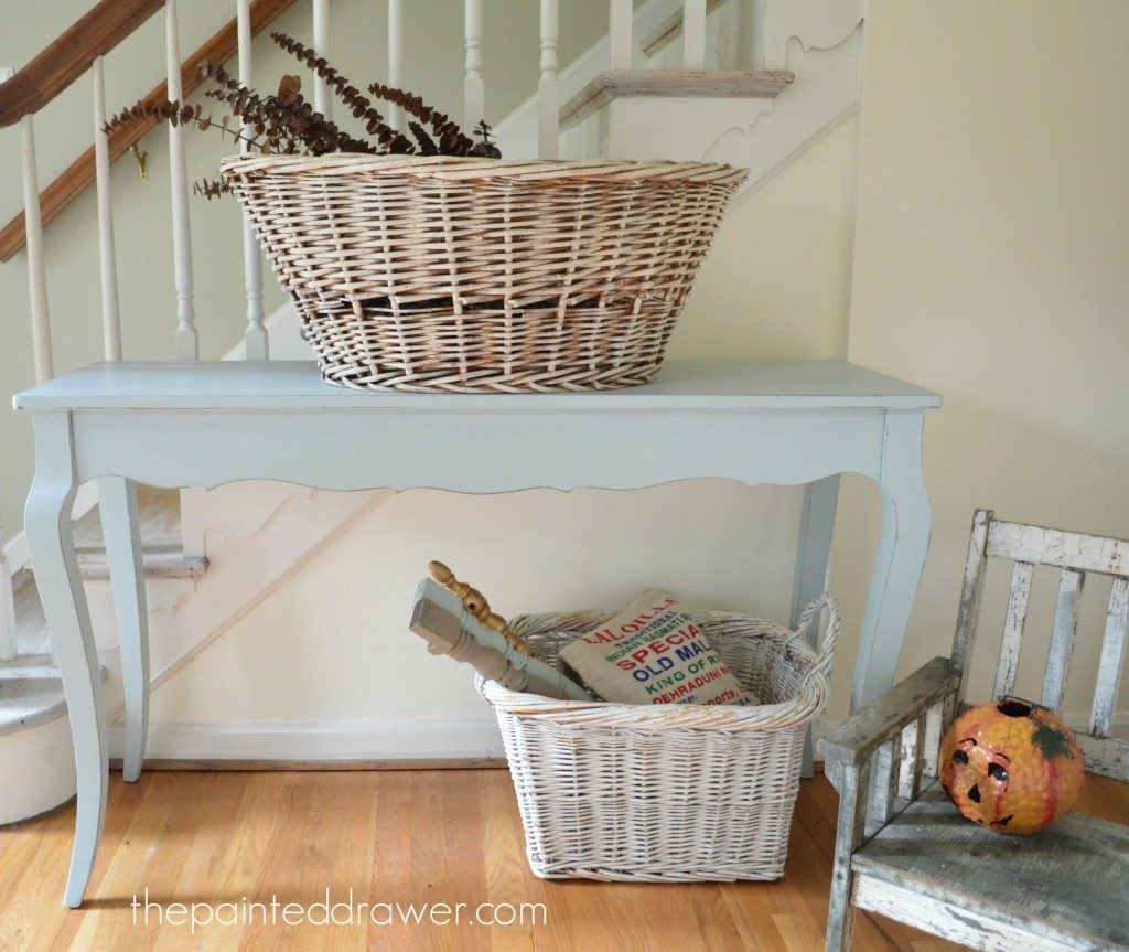 Vintage Blue Console Table