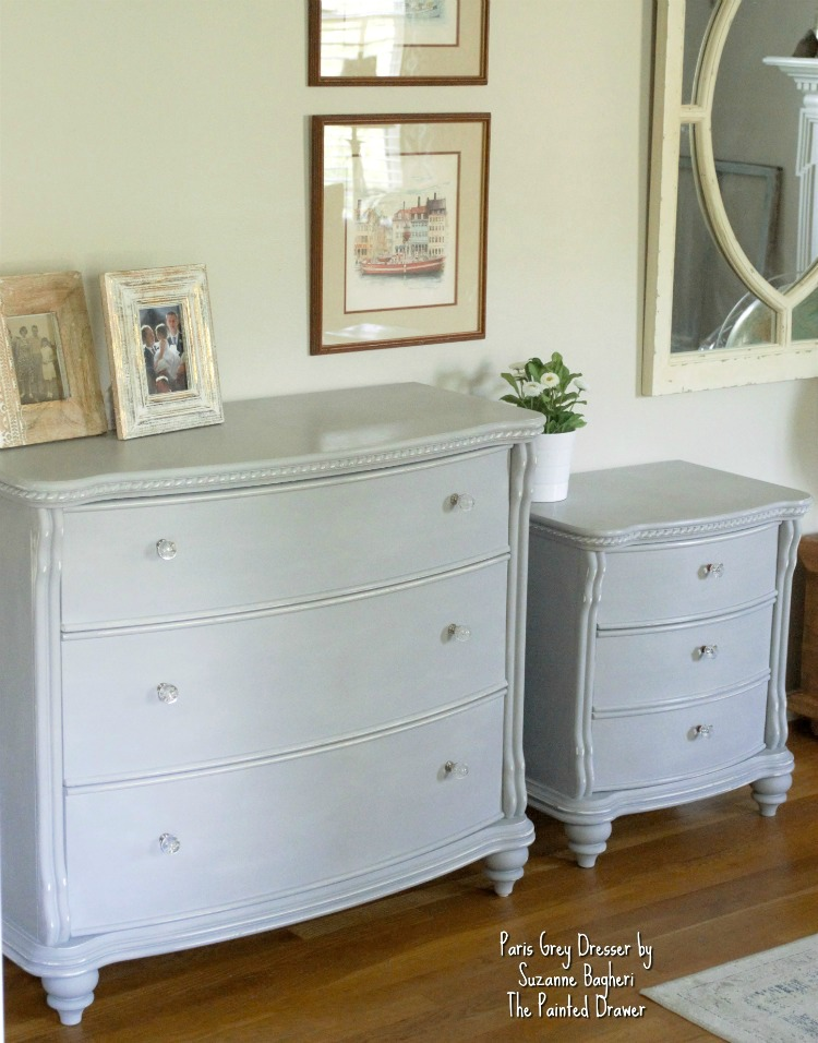 Paris Grey Dresser by Suzanne Bagheri The Painted Drawer