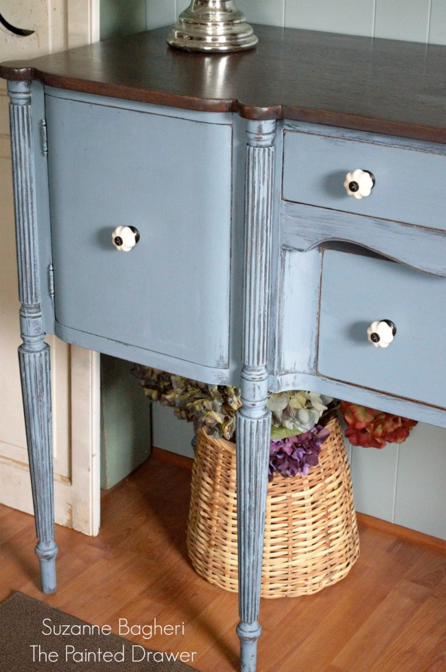 Vintage Sideboard in General Finishes Stillwater Blue