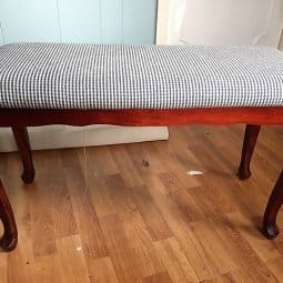 Thrift Store Bench Gets a Makeover in Black