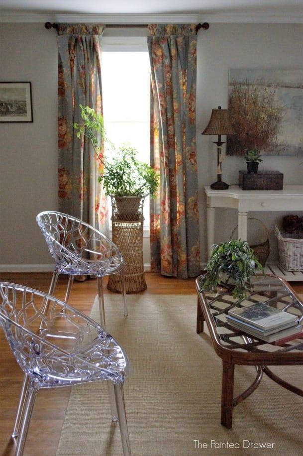 vintage rattan in living room