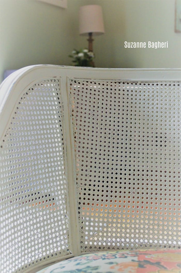 Caned Back Chair Makeover in Annie Sloan Old White